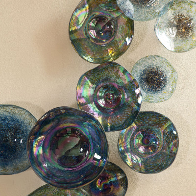 """""""Ascension"""" - Hand Blown Glass Wall Installation - Detail"""