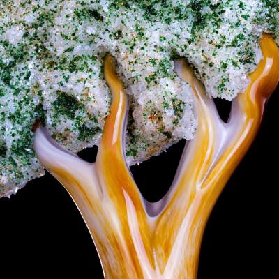 """Seed of Faith"" - Hand Blown Glass Faith Based Art Sculpture - Detail 1"