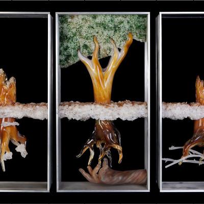 """""""Seed of Faith"""" - Hand Blown Glass Faith Based Art Sculpture - Full"""