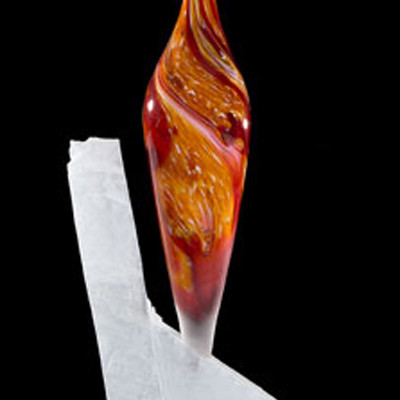 Gappa-Handblown-Stone-Glass-Sculpture-Solitaire