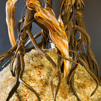 Perseverance Hand Blown Glass Sculptural Artwork